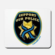Thin Blue Line Support Police Mousepad