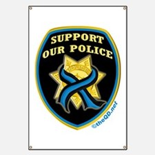 Thin Blue Line Support Police Banner