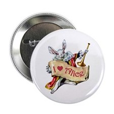 """I LOVE ALICE - PINK EYES 2.25"""" Button (10 pack)"""
