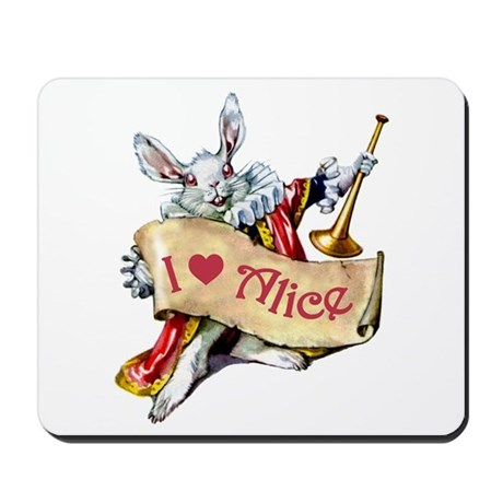 I LOVE ALICE - PINK EYES Mousepad