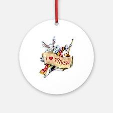 I LOVE ALICE - PINK EYES Ornament (Round)