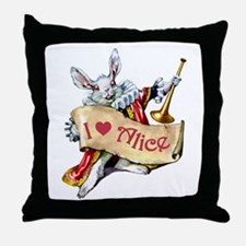 I LOVE ALICE - PINK EYES Throw Pillow