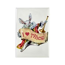 I LOVE ALICE - PINK EYES Rectangle Magnet (100 pac