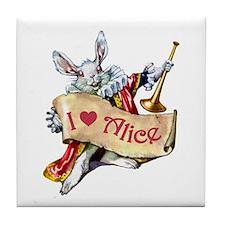 I LOVE ALICE - PINK EYES Tile Coaster