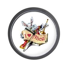 I LOVE ALICE - PINK EYES Wall Clock