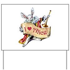 I LOVE ALICE - PINK EYES Yard Sign