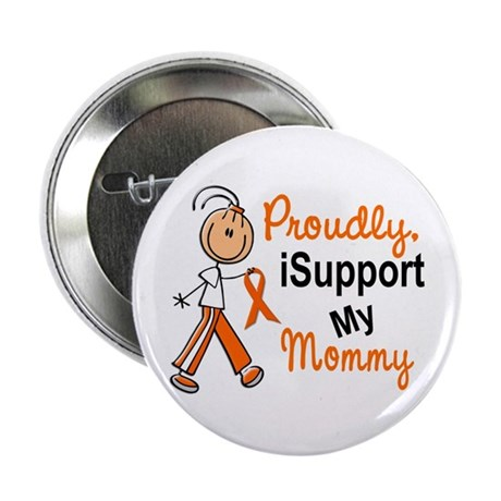 "iSupport My Mommy SFT Orange 2.25"" Button"