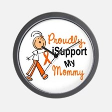 iSupport My Mommy SFT Orange Wall Clock