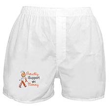 iSupport My Mommy SFT Orange Boxer Shorts