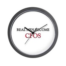 Real Men Become Cfos Wall Clock
