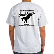 Wild Horse Stunts 3 emergencys Ash Grey T-Shirt