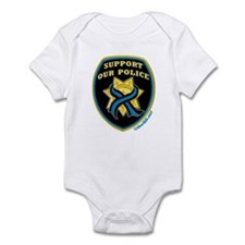 Thin Blue Line Support Police Infant Bodysuit
