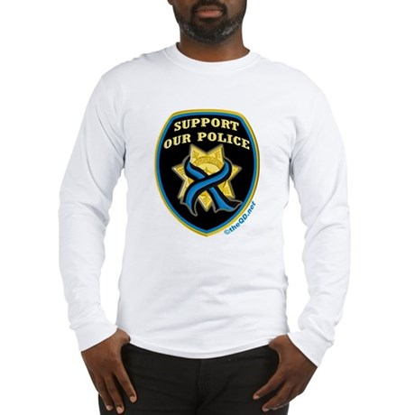 Thin blue line support police long sleeve t shirt for Thin long sleeve t shirts