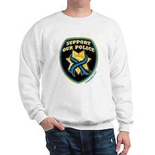 Thin Blue Line Support Police Sweatshirt