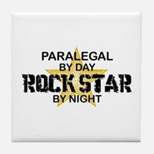 Paralegal Rock Star by Night Tile Coaster