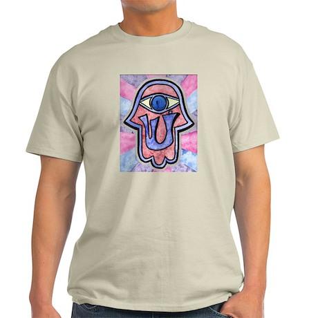 Mystic Hamsa Shin Ash Grey T-Shirt