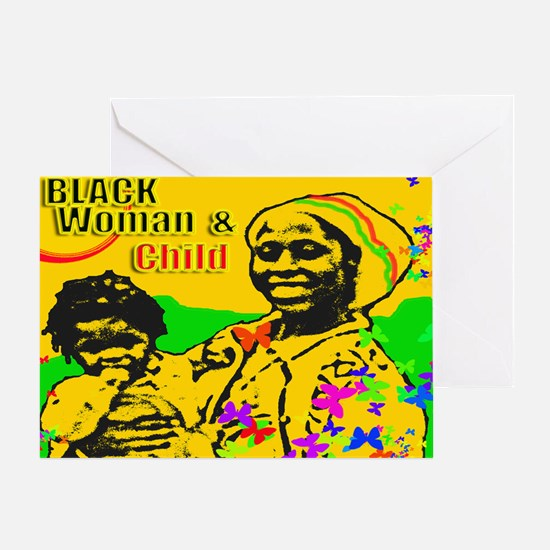 Black Woman & Child Greeting Card