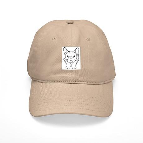 French Bulldog Head in Hands Cap