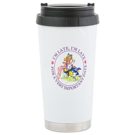 I'M LATE, I'M LATE Stainless Steel Travel Mug
