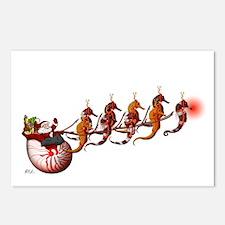 Scuba Santa & Seahorse Reindeer Postcards (8)