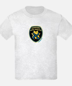 Thin Blue Line Support Police T-Shirt