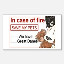 NMtl Fire Save Rectangle Bumper Stickers