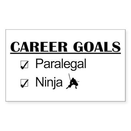 Paralegal Ninja Career Goals Rectangle Sticker