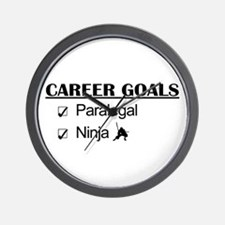 Paralegal Ninja Career Goals Wall Clock