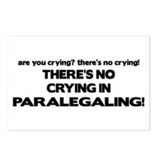 No Crying in Paralegaling Postcards (Package of 8)