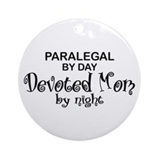 Paralegal Devoted Mom Ornament (Round)