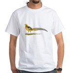 Yellow Golden Pheasant White T-Shirt
