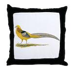 Yellow Golden Pheasant Throw Pillow