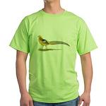 Yellow Golden Pheasant Green T-Shirt