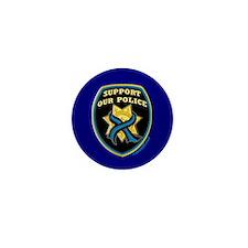 Thin Blue Line Support Police Mini Button