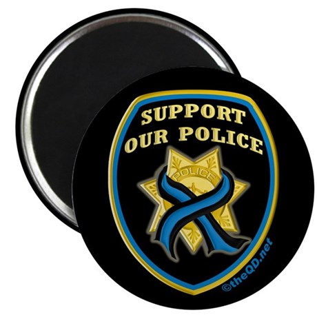 Thin Blue Line Support Police Magnet
