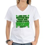 Are you better off? Women's V-Neck T-Shirt