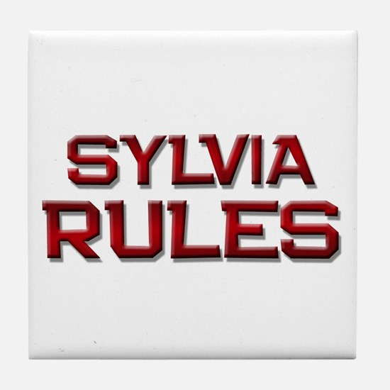 sylvia rules Tile Coaster