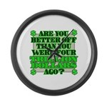 Are you better off? Large Wall Clock
