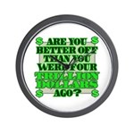 Are you better off? Wall Clock