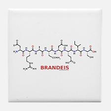 Brandeis name molecule Tile Coaster