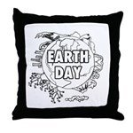 Earth Day 2011 Throw Pillow