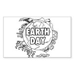 Earth Day 2011 Sticker (Rectangle 10 pk)