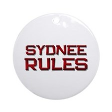 sydnee rules Ornament (Round)