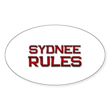 sydnee rules Oval Sticker