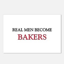 Real Men Become Bakers Postcards (Package of 8)