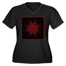 Kenpo Tenets Women's Plus Size V-Neck Dark T-Shirt