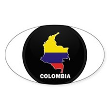 Columbia 4 Oval Decal