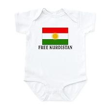 Free Kurdistan Infant Bodysuit