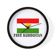 Free Kurdistan Wall Clock