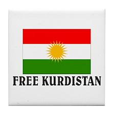 Free Kurdistan Tile Coaster